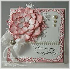 Kathy Roney: Joyfully Made Designs: Pink Arianna Blooms - Heartfelt Creations - 7/30/14