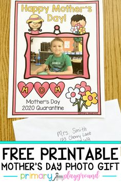 Free Printable Mother' Day Photo Gift - Primary Playground