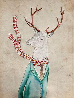 Dear deer. Art Print by Belén Segarra | Society6