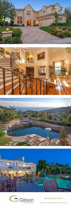 Exquisite Palisades home in the gated Enclave community. Complete with ocean views and a slide for the backyard pool. Open today 11/17 with agents Beverly and Kimberly Gold.