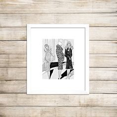 Flappers in vintage coats deco design Art Deco by PictorialHistory, $40.00