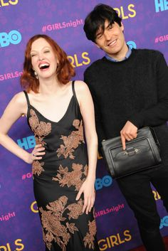 Karen Elson and Michael Cavadias [Photo by Steve Eichner]