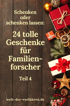Schönes & Nützliches für Familienforscher Geschenkideen Geschenke Weihnachten - Teil 4 | Ahnenforschung Genealogie Familienforschung Gift Wrapping, Gifts, Gift Wrapping Paper, Presents, Gifs, Gift Packaging, Present Wrapping, Wrapping Gifts, Gift