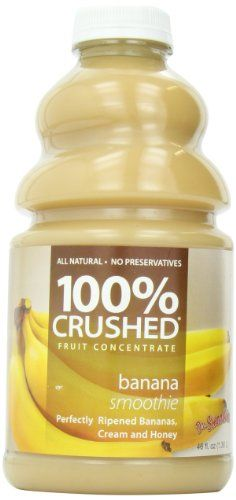 Dr. Smoothie Banana Smoothie 100% Crushed Fruit Smoothie Bottles, 46-Ounce *** Check this awesome product by going to the link at the image.