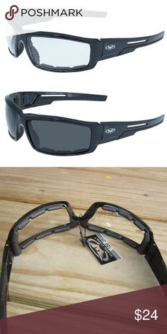 a597d0e37f4 2 Motorcycle Horseback Glasses Clear Smoke Padded They are called the Sly  and they are made
