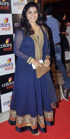 Renuka Shahane at the launch of TV channel 'Colors मराठी'. #Bollywood #Fashion #Style #Beauty #Marathi
