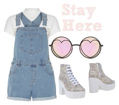 """""""Stay Here"""" by kashbley on Polyvore featuring Glamorous, Dorothy Perkins, Jeffrey Campbell and Betsey Johnson"""