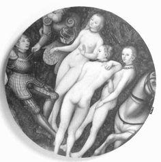 Størrelse: Ø37 x 1,5 Motiv: Renæssance, kvinde i rustning Farve: sort, hvid, grå - monochrome Design: Statens Museum for Kunst www.houseofbk.com
