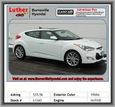 2012 Hyundai Veloster Base Coupe   Xm Satellite Radio, Front Leg Room: 43.9, Metal-Look Center Console Trim, Window Grid Antenna, Coil Front Spring, Cupholders: Front And Rear, Overall Height: 55.1, Body-Colored Bumpers, Rear Area Cargo Cover: Rigid, Regular Front Stabilizer Bar, Variable Intermittent Front Wipers, Trip Computer, Blue Link, Door Pockets: Driver And Passenger,