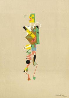 Lothar Schreyer - 3 Blätter: Figur des lüsternen Mannes. Figur der lüsternen Frau. Figur des männlichen Intellekts