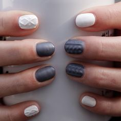 Sweater Nails Tutorial | POPSUGAR Beauty