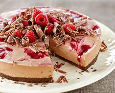 TOBLERONE Raspberry Swirl Cheesecake Recipe | PHILADELPHIA