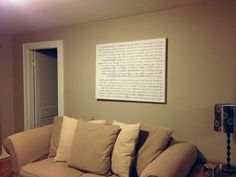 Canvas Art personalized just the way you want...hung over the couch in the living room. http://geezees.com/ #livingroom #design #decorate #home #decor
