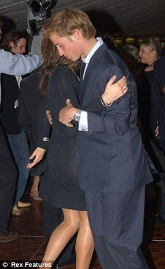 William and kate at a dance at St Andrews University in 2004