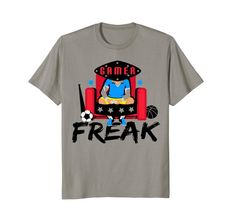 #Gamer Freak #Tshirt, in several colors and sizes.  Great for adults or kids, casual comfortable #fashion #clothing you'll love.  Great gifts too.  Shop now