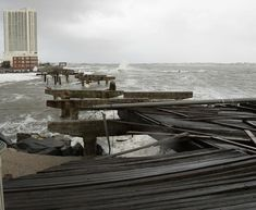 What little remains of the Atlantic City Boardwalk after Hurricane Sandy slammed into NJ. October 29, 2012.