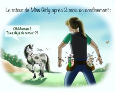 "Dans quel état sera votre loulou à votre retour de confinement ? 😱 Le retour de la ""Miss Girly"" de @ravene_labo se fera avec la gamme Easy Shine ! Pour un pansage facile et un cheval beau gosse 😍 #Ravene #cheval #confinement #easyShine #instadraw Illustrations, Girly, Easy, Movies, Movie Posters, Hunks Men, Lineup, Horse, Women's"
