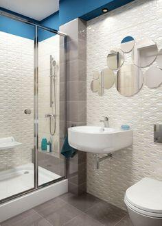 Idei și sfaturi pentru amenajarea băilor mici | Adela Pârvu - Interior design blogger Home Theater, Interior Decorating, Interior Design, Sink, Shower, House, Small Bathrooms, Bathroom Ideas, Home Decor