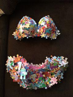 ABC Party Outfit - puzzle pieces!!!