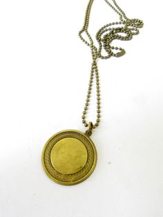 New ItemVintage Brass Coin Necklace/Unisex/Long by LairaLou