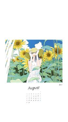 Kawaii Wallpaper, Wallpaper Iphone Cute, Cute Wallpapers, Tumblr Art, Calendar Wallpaper, Aesthetic Pastel Wallpaper, Cartoon Art Styles, Anime Angel, Anime Scenery
