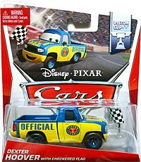 World of Cars 2014 - #12/16 - Dexter Hoover with Checkered Flag - Single - Piston Cup