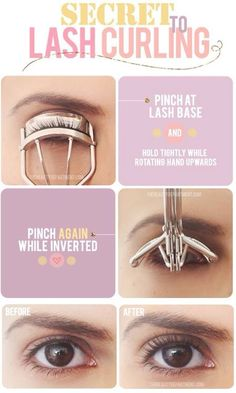 Secret To Lash Curling #Beauty #Musely #Tip