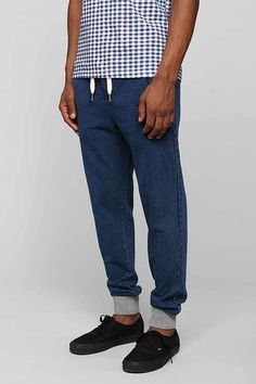 Native Youth Indigo Grey-Cuff Jogger Pant  - Urban Outfitters