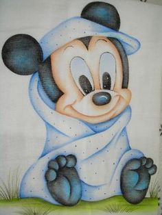 Mickey Mouse First Birthday, Baby Mickey, Disney Mickey, Disney Art, Pretty Drawings, Art Drawings, Mickey Drawing, Disney Cartoons, Drawing For Kids