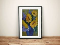 Sunflower Oil Painting  Home Decor  Wall Art  by DeliaSopcaArt