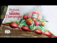 Pintura em tecido morangos (Katia Giló) - YouTube