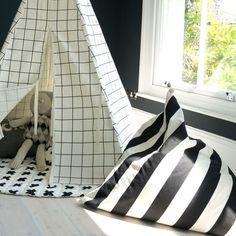 Monochrome Stripe Bean Bag by Wildfire