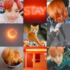 Moodboard Jhope orange kpop