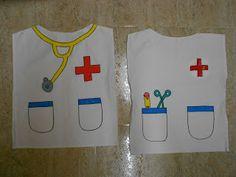 Medico se puede hacer muy fácil con una bolsa basura blanca de plástico de multipapel. | http://www.multipapel.com/subfamilia-bolsas-disfraces-educacion-infantil-pequenas.htm