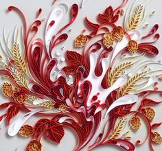 Yulia Brodskaya, the artist whose work is featured here, works with paper using an ancient style known as quilling . If you use image s...