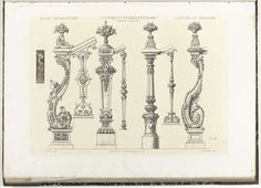 Acht balusters, Charles Claesen, ca. 1866 - ca. 1900