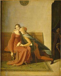 """Jean-Auguste-Dominique Ingres, """"Françoise de Rimini"""", oil on canvas, 1814."""
