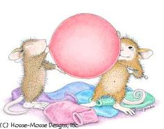 """Maxwell and Muzzy from House-Mouse Designs® featured on the The Daily Squeek® for June 24th, 2013. Click on the image to see it on a bunch of really """"Mice"""" products."""