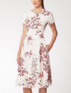 Max Mara HERMES ivory: Sable dress.