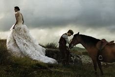 War Horse's Jeremy Irvine and Model Arizona Muse Photographed for the November Issue of Vogue by David Sims