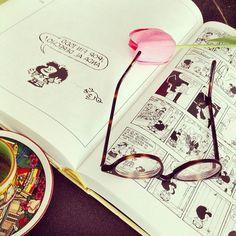 """Coffee break with Mafalda""...and with #EPOS eyewear! Thanks to ""Mafalda in Paris"" for this shot!"