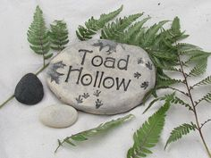 Toad house sign Decor for the Toads home Gift for by Poemstones, $19.00