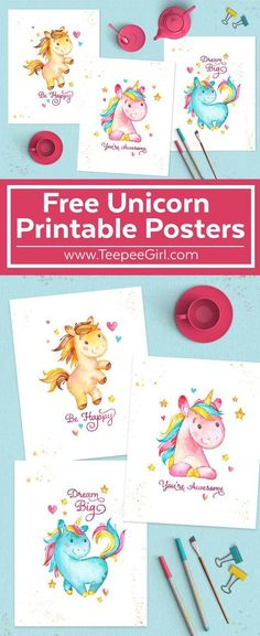 Get these free 8x10 Unicorn Posters today at www.TeepeeGirl.com!