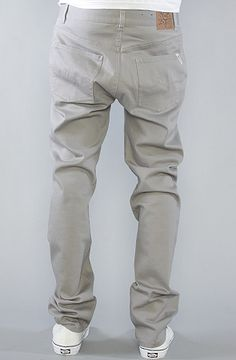 The Core Collection Slim Straight 5-Pocket Twill Pants in Graphite by LRG Core Collection