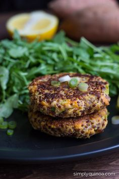 Clean Eating Sweet Potato Salmon Burgers - they're quick, easy and couldn't be more delicious! [gluten-free]