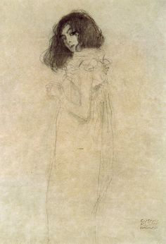 gustav klimt portrait of a young woman