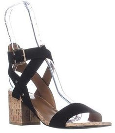 Indigo Rd Elea Heeled Ankle Strap Sandals, Black.
