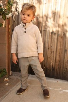 little boy's skinny slacks made from thrifted man's slacks. love!
