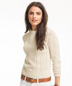 LLBean Cotton Fisherman Sweater