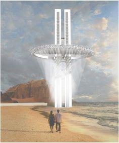 Os 20 arranha-céus mais inovadores da eVolo,Water Skyscraper in Somalia / Nurzhanat Kenenov. Imagem Cortesia de eVolo